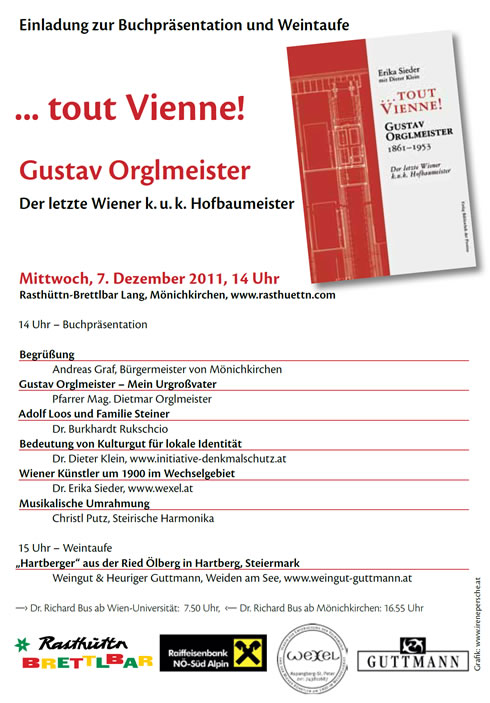 Buchpräsentation …tout Vienne