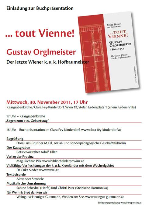 Einladung zur Buchpräsentation in der Kaasgrabenkirchen